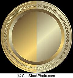 doré, argenté, (vector), plaque