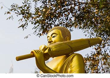 doré, bouddha