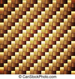doré, carrée, seamless, vecteur, palmé, texture.