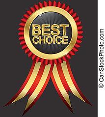 doré, choix, r, mieux, étiquette, rouges