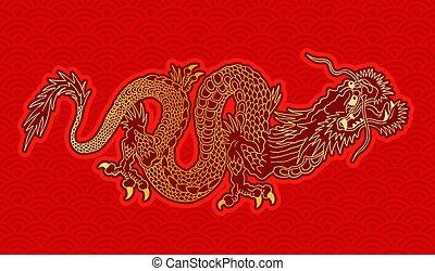 doré, dragon chinois
