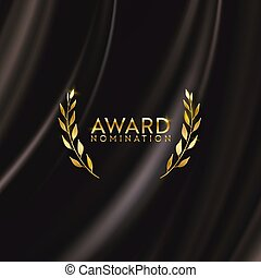 doré, fond, gagnant, conception, affiche, musique, mieux, prix, or, nomination, récompense, pellicule, film
