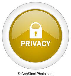 doré, intimité, mobile, app, illustration, bouton, conception, toile, icône, rond, lustré