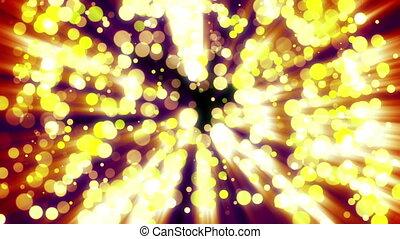 doré, lumière, résumé, sombre, bokeh, fond