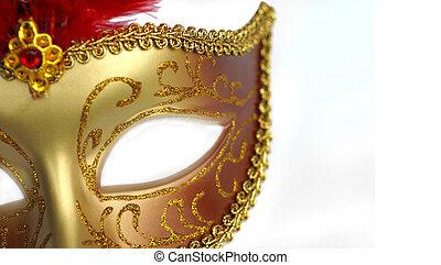 doré, masque, fête