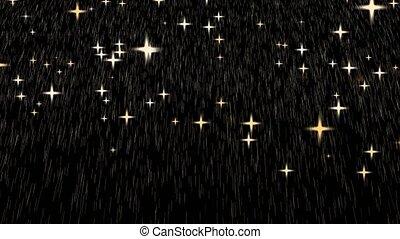 doré, pluie, or, dieu, dépot lourd, étoile