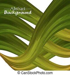 doré, résumé, créatif, couleurs, arrière-plan vert, ton, design.