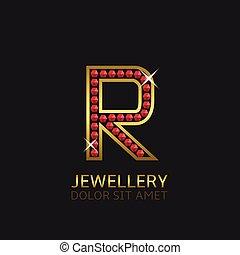 doré, r, lettre