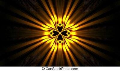 doré, rayons, laser, puissance, énergie, space., champ