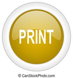 doré, toile, mobile, app, illustration, bouton, impression, conception, lustré, icône, rond
