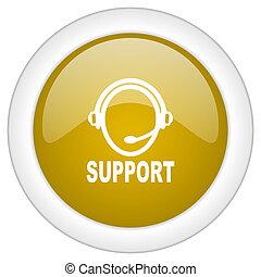 doré, toile, mobile, soutien, illustration, bouton, conception, lustré, icône, app, rond
