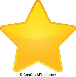 doré, vecteur, étoile