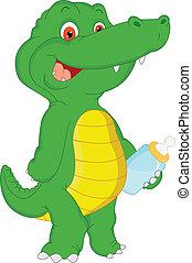 dorlotez crocodile, dessin animé