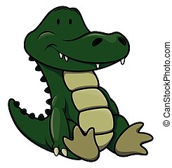 dorlotez crocodile, dessin animé, illustration