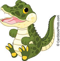 dorlotez fille, crocodile