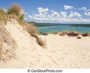 dormir, dunes, ours