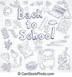 dos, doodles, école