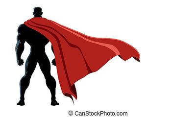 dos, isolé, superhero