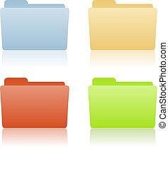 dossier, fichier, endroit, étiquette
