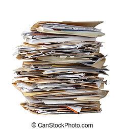 dossiers, pile, fichier