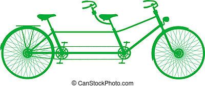 double bicyclette, retro