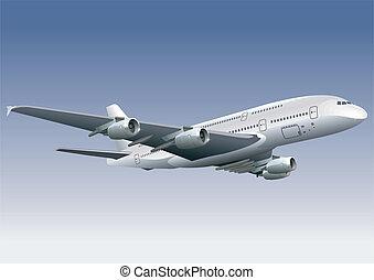 double-deck, avion
