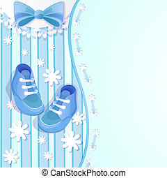 douche bébé, bleu, carte