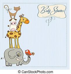 douche bébé, carte