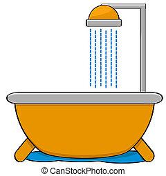 douche, baignoire