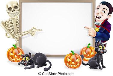 dracula, halloween, signe, squelette