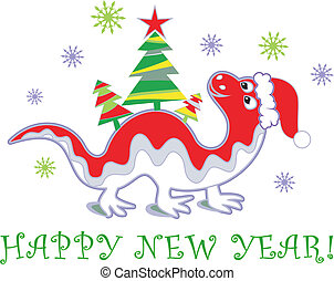dragon, année, nouveau, 2012