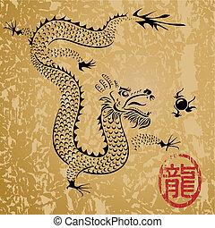 dragon chinois, ancien