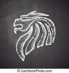 dragon, chinois, icône