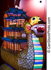 dragon, lanterne