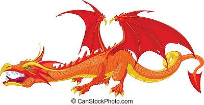 dragon, rouges