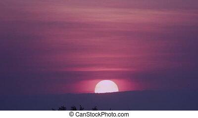 dramatique, levers de soleil