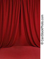 drapé, arrière-plan rouge, toile de fond, sanguine