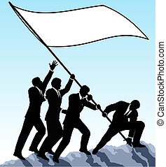 drapeau, élévation