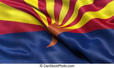 drapeau, état arizona, nous, boucle