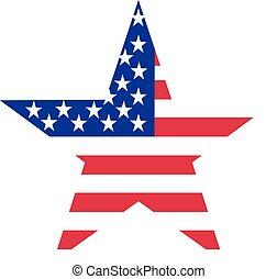 drapeau, étoile, usa