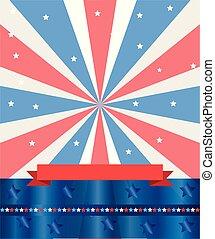 drapeau américain, 4ème juillet, jour, indépendance