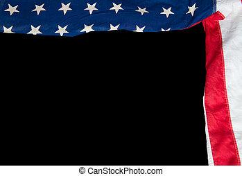 drapeau, américain noir, fond
