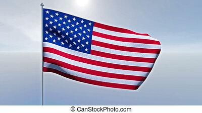 drapeau américain, usa