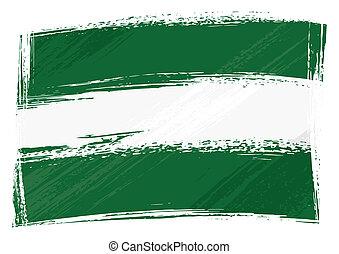 drapeau, andalousie, grunge