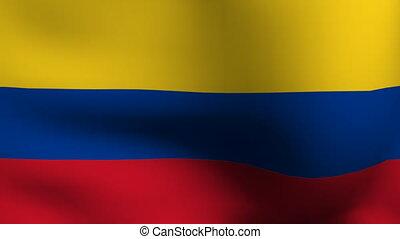 drapeau, animation, colombie