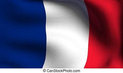 drapeau, animation, france