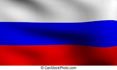 drapeau, animation, russie, vague