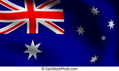 drapeau, australie, animation