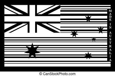 drapeau, australie, barcode