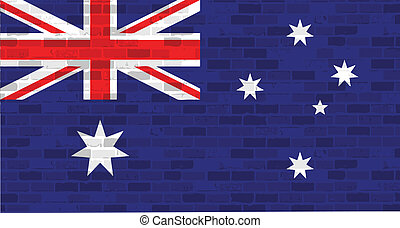 drapeau australie, graphisme, illustration